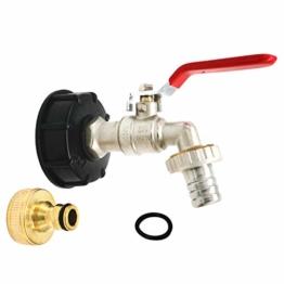 """AODENER Wasserhahn 3/4"""" Messing Wassertank Schlauchanschluss Ersatz & Adapter für IBC Regenwassertanks -Regentonnen/Wasserhahn/Absperrhahn mit Kupfer Schnuller - 1"""