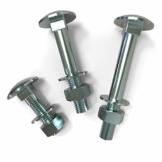 AUPROTEC Schlossschrauben Flachrundkopfschrauben M5-M12 mit Muttern und U-Scheiben Auswahl: 50 Stück M8x120 - 1