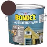 Bondex Dauerschutz Farbe - Schokolade Braun, 2,5 L - 1