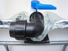 Class IBC Adapter, Winkel- Klemmverbindung 50mm Rohr, Grobgewinde S60x6#1402 - 1