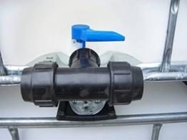 Class IBC Adapter,T-Stück- Klemmverbindung 50mm Rohr, Grobwinde S60x6#1401 - 1