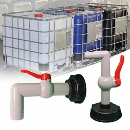 coil.c IBC Auslaufhahn IBC Tank Adapter, hochwertiger IBC Container Zubehör Adapter für IBC-Regenwassertank - 1