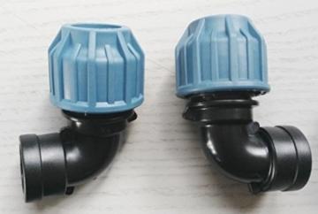 FACH-SHKVMK 2-fach Tankverbindung mit Schwanenhals, IBC-Container-Zubehör-Regenwasser-Tank-Adapter-Fitting-Kanister, mt,290,93,kv25,r23,kv25w,mk3+82,84,87,9119,9219,87,84,82,290,or,tf - 4