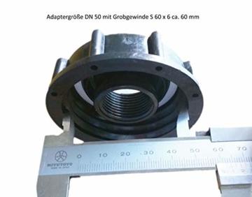 FN-Technik 2-Fach DN 50 IBC Regentonnenverbinder Tankverbinder mit Schwanenhals - 2