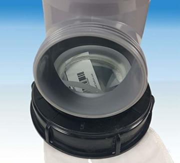 FN-Technik IBC Deckelfilter Regenwasserfilter Deckel DN 150 HT DN 110 mit Serviceöffnung - 2