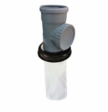 FN-Technik IBC Deckelfilter Regenwasserfilter Deckel DN 150 HT DN 110 mit Serviceöffnung - 1