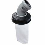 IBC Deckelfilter Regenwasserfilter Deckel DN 150 HT DN 75 Nadelfilz, Artikel:Bogen DN 75 45° - 1