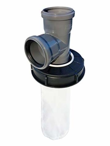 FN-Technik IBC Deckelfilter Regenwasserfilter Wasserfilter DN 150 HT Abzweig DN 75 - 2
