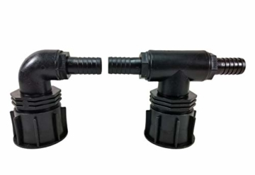 FN-Technik IBC Verbinder Regentonnenverbinder Tankverbinder DN 50 T-Stück/Bogen 1' x 25 mm - 1