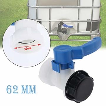 IBC-Wassertank Universal Adapter IBC Behälter Container Auslass regelventil DN40, 62mm - 2