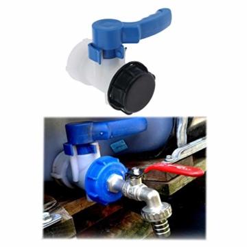IBC-Wassertank Universal Adapter IBC Behälter Container Auslass regelventil DN40, 62mm - 5