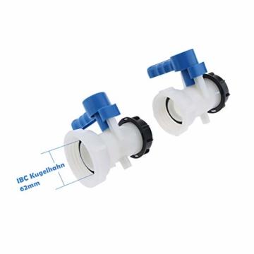 IBC-Wassertank Universal Adapter IBC Behälter Container Auslass regelventil DN40, 62mm - 7