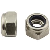 Sicherungsmuttern (Standard Ausführung) - M6 - (50 Stück) - DIN 985 / ISO 10511 - Stoppmuttern - Edelstahl A2 (V2A) - SC985 | SC-Normteile - 1