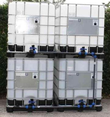 Tankverbindung DN50 BLOCK4 - für 4 IBC 1000 im Block ( Tanks sind nicht im Angebot enthalten ) - 1