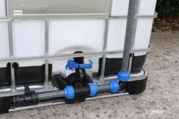 Tankverbindung DN50 S60x6 übereinander - für 2 Tanks ( Tanks sind nicht im Angebot enthalten ) - 2
