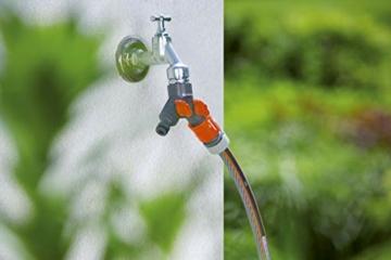 Gardena 2-Wege-Ventil: Wasserverteiler für Wasserhahn mit 26.5 mm (G 3/4 Zoll) Gewinde, für gleichzeitigen Anschluss von zwei Geräten, beide Ausgänge regulierbar (938-20) - 4