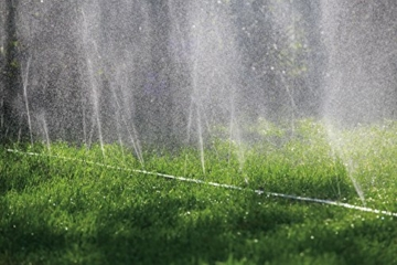 Gardena Schlauch-Regner: Sprühregner für die Bewässerung länglicher, schmaler Zonen, Länge 7.5 m, anschlussfertig ausgestattet, grün, individuell verkürz- oder verlängerbar (1995-20) - 5
