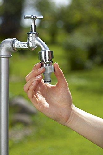 Gardena Hahnverbinder 26.5 mm (G 3/4 Zoll): Anschluss für Wasserhähne mit Gewinde, wasserdichte Verbindung, einfache Handhabung, verpackt (18201-20) - 3