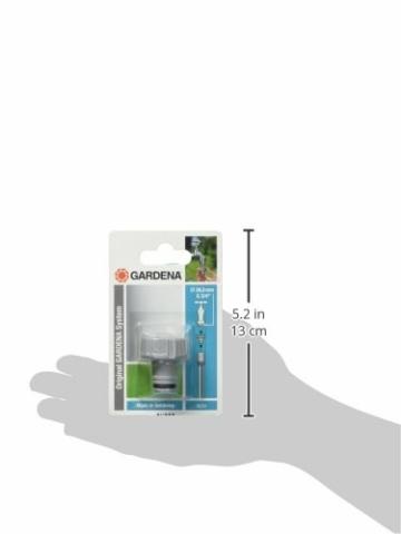 Gardena Hahnverbinder 26.5 mm (G 3/4 Zoll): Anschluss für Wasserhähne mit Gewinde, wasserdichte Verbindung, einfache Handhabung, verpackt (18201-20) - 4